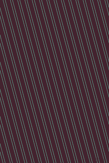 105 degree angle dual stripe line, 1 pixel line width, 6 and 15 pixel line spacing, Medium Aquamarine and Castro dual two line striped seamless tileable