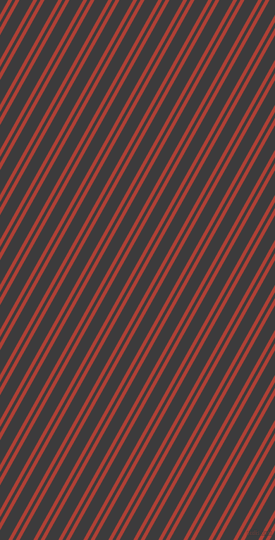 61 degree angles dual stripes lines, 5 pixel lines width, 4 and 17 pixels line spacing, Medium Carmine and Fuscous Grey dual two line striped seamless tileable