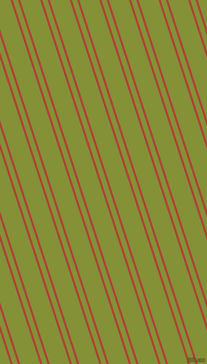 108 degree angle dual stripes line, 4 pixel line width, 10 and 38 pixel line spacing, Medium Carmine and Wasabi dual two line striped seamless tileable