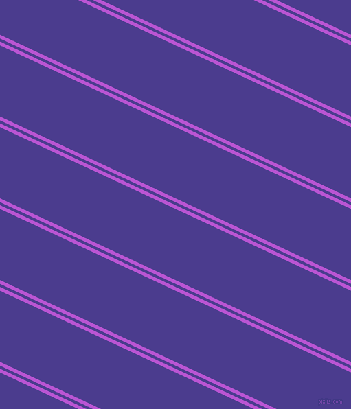 155 degree angles dual striped lines, 5 pixel lines width, 4 and 94 pixels line spacing, Medium Orchid and Blue Gem dual two line striped seamless tileable