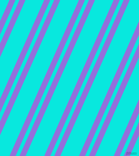 66 degree angles dual stripe line, 19 pixel line width, 12 and 58 pixels line spacing, Medium Purple and Bright Turquoise dual two line striped seamless tileable