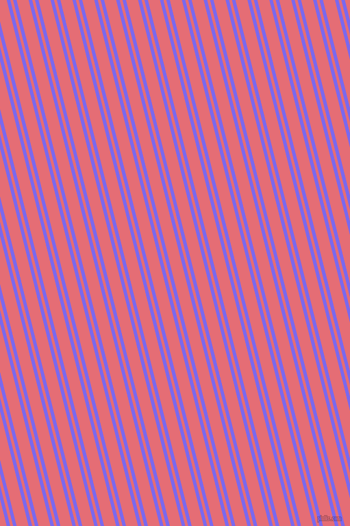 104 degree angles dual striped line, 5 pixel line width, 4 and 17 pixels line spacing, Medium Slate Blue and Froly dual two line striped seamless tileable
