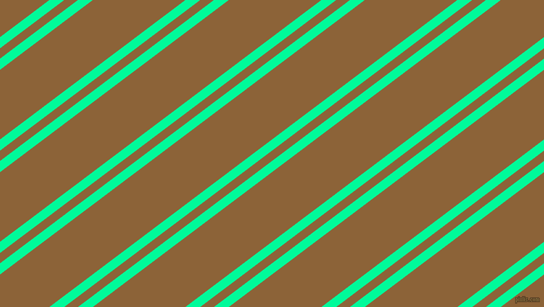 37 degree angles dual stripes line, 13 pixel line width, 12 and 81 pixels line spacing, Medium Spring Green and McKenzie dual two line striped seamless tileable