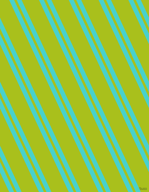115 degree angle dual stripes line, 15 pixel line width, 8 and 53 pixel line spacing, Medium Turquoise and Bahia dual two line striped seamless tileable