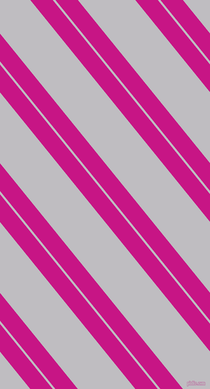 129 degree angles dual striped lines, 34 pixel lines width, 4 and 87 pixels line spacing, Medium Violet Red and French Grey dual two line striped seamless tileable