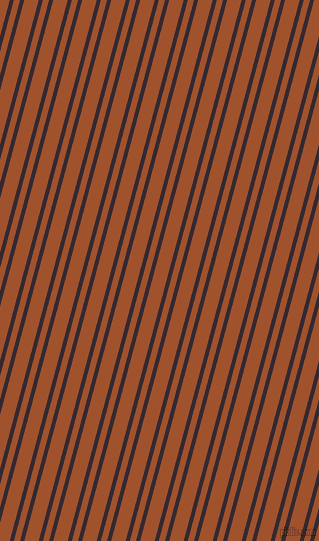 75 degree angle dual stripe lines, 4 pixel lines width, 6 and 14 pixel line spacing, Melanzane and Sienna dual two line striped seamless tileable
