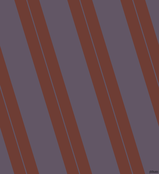 107 degree angles dual striped lines, 46 pixel lines width, 4 and 109 pixels line spacing, Metallic Copper and Fedora dual two line striped seamless tileable
