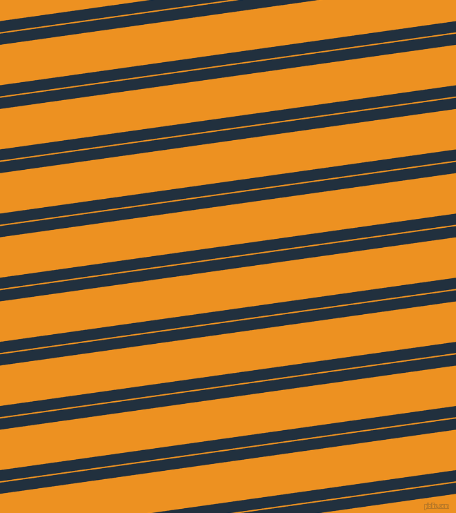 8 degree angle dual stripe line, 16 pixel line width, 2 and 58 pixel line spacing, Midnight and Carrot Orange dual two line striped seamless tileable
