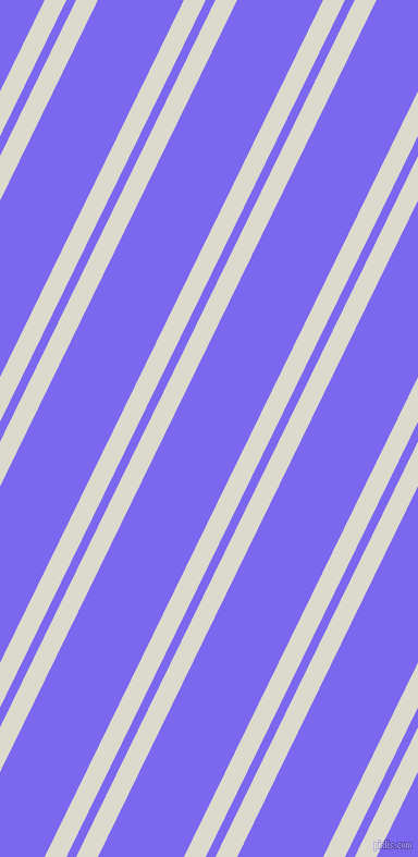 64 degree angles dual stripes line, 18 pixel line width, 8 and 71 pixels line spacing, Milk White and Medium Slate Blue dual two line striped seamless tileable