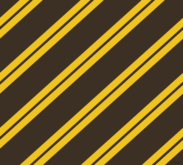 42 degree angle dual striped line, 22 pixel line width, 8 and 85 pixel line spacing, Moon Yellow and Cola dual two line striped seamless tileable