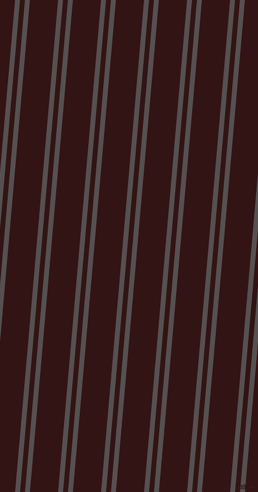 85 degree angles dual stripes lines, 10 pixel lines width, 10 and 57 pixels line spacing, Mortar and Seal Brown dual two line striped seamless tileable
