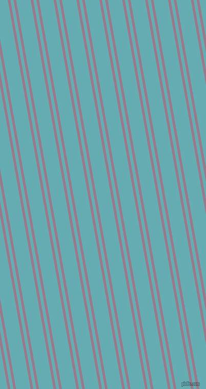100 degree angle dual striped line, 5 pixel line width, 6 and 28 pixel line spacing, Mountbatten Pink and Fountain Blue dual two line striped seamless tileable