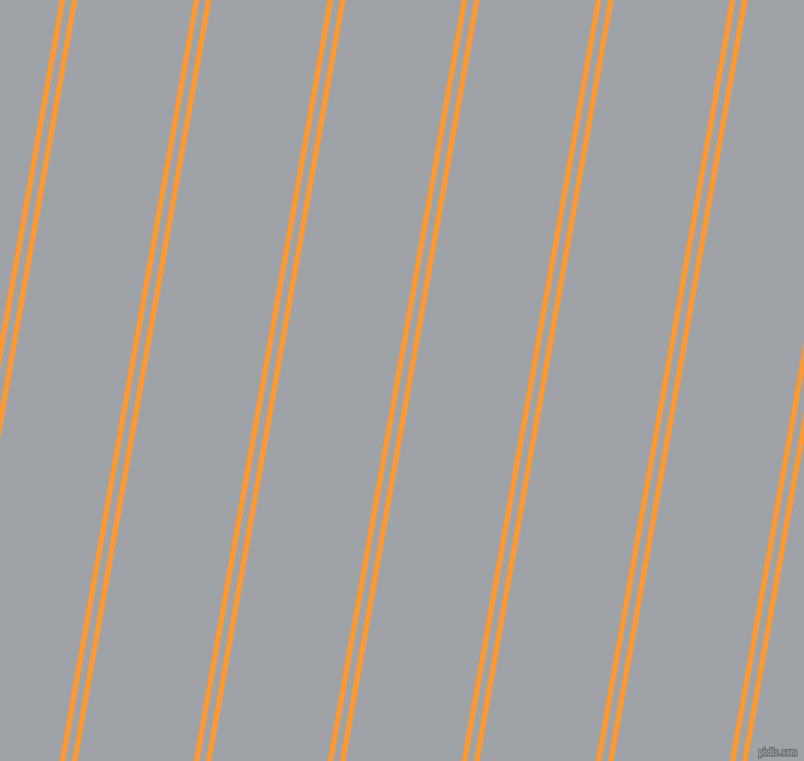 80 degree angles dual stripes lines, 5 pixel lines width, 6 and 105 pixels line spacing, Neon Carrot and Grey Chateau dual two line striped seamless tileable