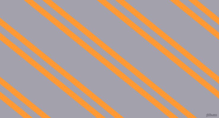 141 degree angle dual stripes lines, 19 pixel lines width, 20 and 97 pixel line spacing, Neon Carrot and Spun Pearl dual two line striped seamless tileable