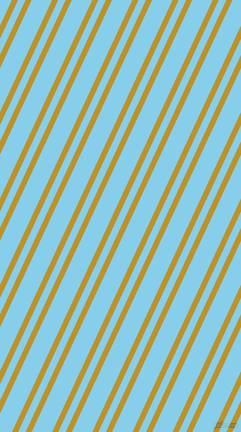 65 degree angles dual stripe lines, 8 pixel lines width, 10 and 27 pixels line spacing, Nugget and Sky Blue dual two line striped seamless tileable