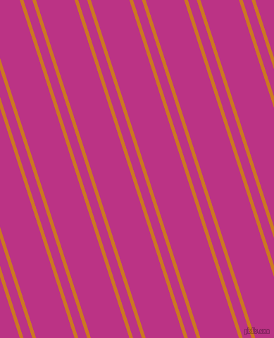 108 degree angles dual striped line, 5 pixel line width, 12 and 52 pixels line spacing, Ochre and Red Violet dual two line striped seamless tileable