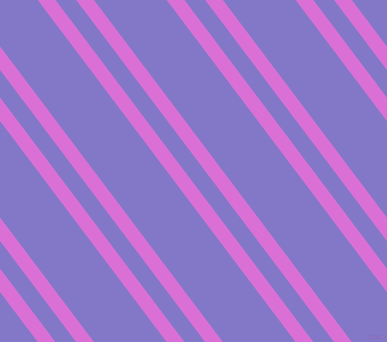 127 degree angles dual stripe lines, 29 pixel lines width, 34 and 119 pixels line spacing, Orchid and Moody Blue dual two line striped seamless tileable
