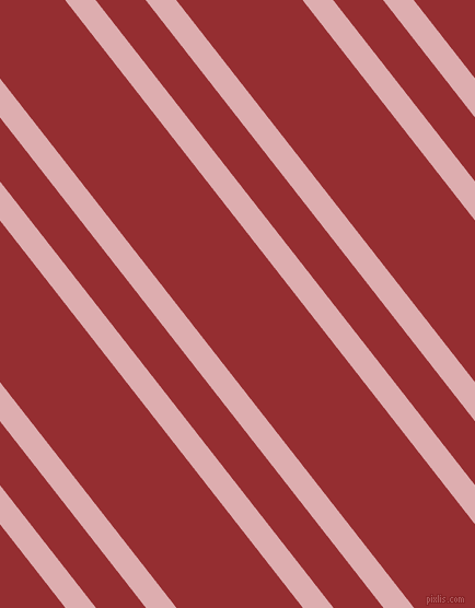 128 degree angles dual striped lines, 22 pixel lines width, 36 and 91 pixels line spacing, Pale Chestnut and Guardsman Red dual two line striped seamless tileable