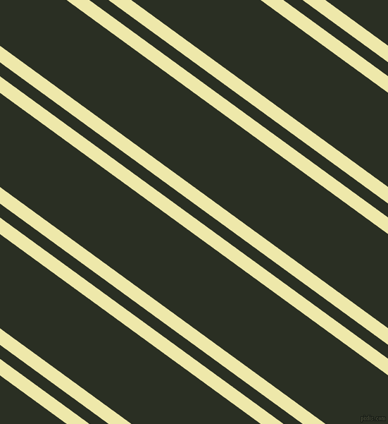 144 degree angles dual stripes lines, 19 pixel lines width, 16 and 108 pixels line spacing, Pale Goldenrod and Pine Tree dual two line striped seamless tileable