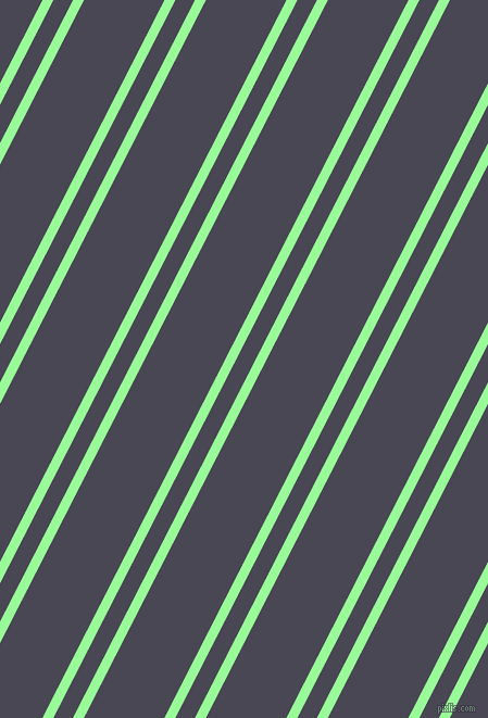 63 degree angles dual stripe line, 9 pixel line width, 16 and 66 pixels line spacing, Pale Green and Gun Powder dual two line striped seamless tileable