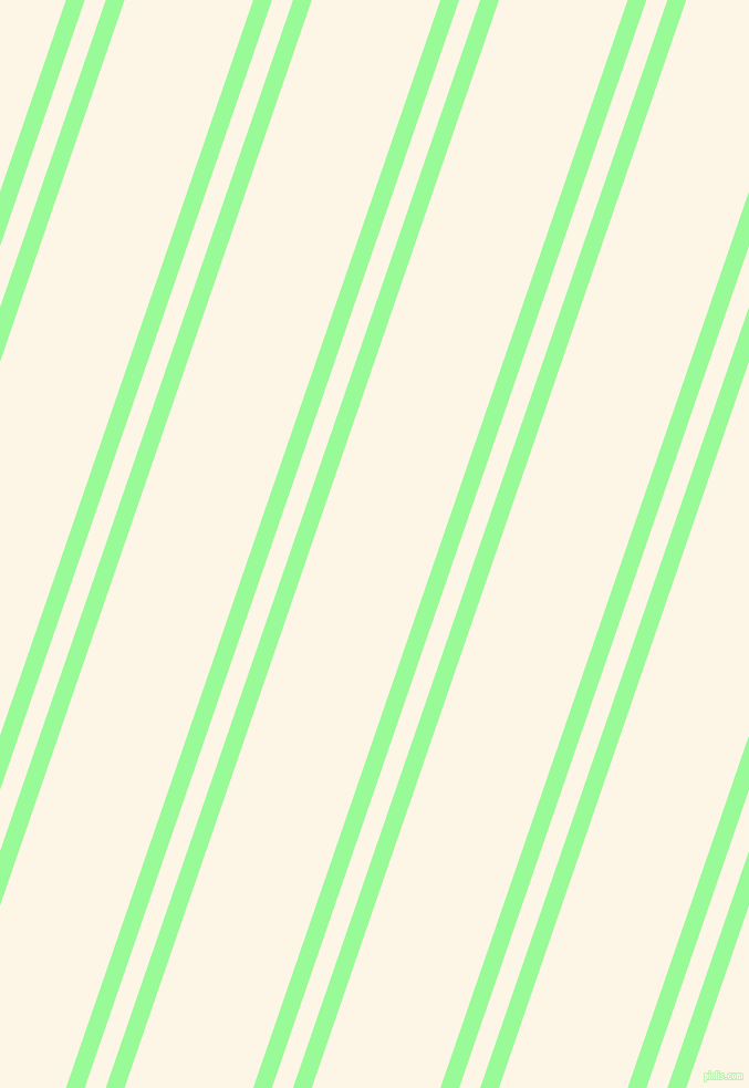 71 degree angle dual stripes line, 16 pixel line width, 18 and 110 pixel line spacing, Pale Green and Old Lace dual two line striped seamless tileable