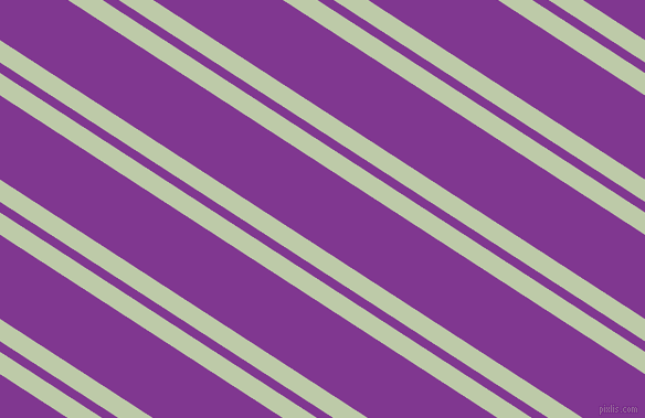 147 degree angles dual stripes line, 17 pixel line width, 8 and 64 pixels line spacing, Pale Leaf and Vivid Violet dual two line striped seamless tileable