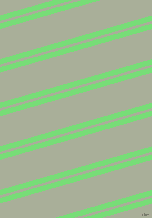 16 degree angles dual striped lines, 17 pixel lines width, 8 and 93 pixels line spacing, Pastel Green and Green Spring dual two line striped seamless tileable