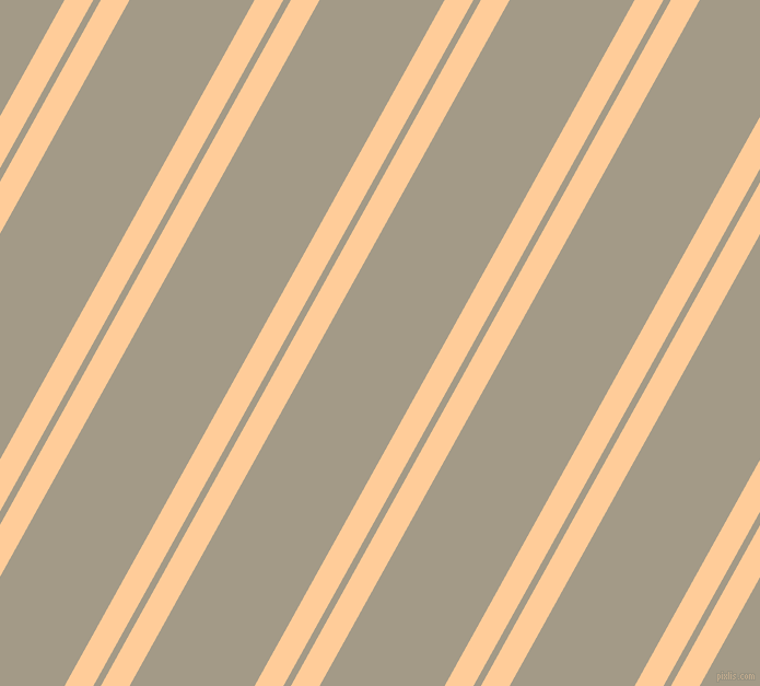 61 degree angles dual striped line, 23 pixel line width, 6 and 100 pixels line spacing, Peach-Orange and Napa dual two line striped seamless tileable