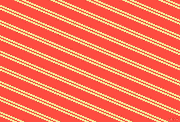 157 degree angle dual striped line, 6 pixel line width, 4 and 33 pixel line spacing, Picasso and Sunset Orange dual two line striped seamless tileable