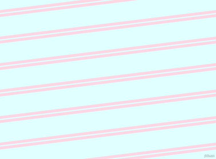 7 degree angle dual striped lines, 10 pixel lines width, 4 and 68 pixel line spacing, Pig Pink and Light Cyan dual two line striped seamless tileable