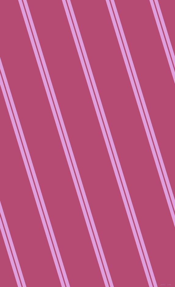 107 degree angle dual stripe lines, 11 pixel lines width, 4 and 111 pixel line spacingPlum and Royal Heath dual two line striped seamless tileable