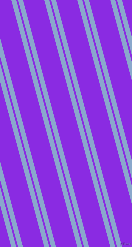 105 degree angles dual stripes lines, 16 pixel lines width, 6 and 69 pixels line spacing, Polo Blue and Blue Violet dual two line striped seamless tileable
