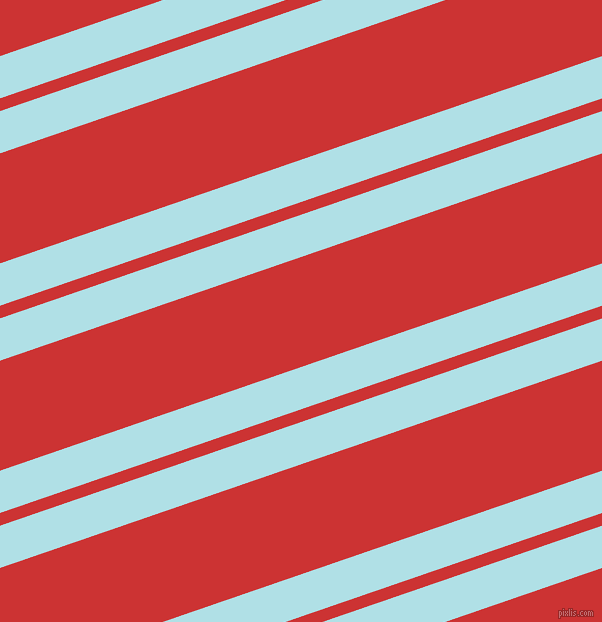 19 degree angles dual striped lines, 40 pixel lines width, 12 and 104 pixels line spacing, Powder Blue and Persian Red dual two line striped seamless tileable