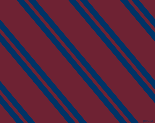 130 degree angle dual stripes line, 22 pixel line width, 12 and 97 pixel line spacing, Prussian Blue and Claret dual two line striped seamless tileable