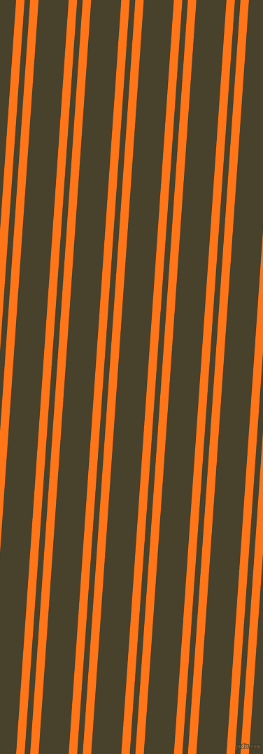 86 degree angles dual striped lines, 12 pixel lines width, 8 and 43 pixels line spacing, Pumpkin and Onion dual two line striped seamless tileable