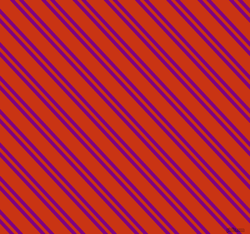 133 degree angles dual striped line, 7 pixel line width, 6 and 26 pixels line spacing, Purple and Harley Davidson Orange dual two line striped seamless tileable