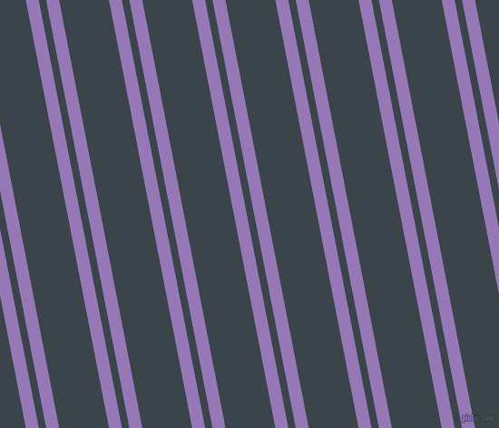 101 degree angles dual stripe lines, 14 pixel lines width, 8 and 54 pixels line spacing, Purple Mountain