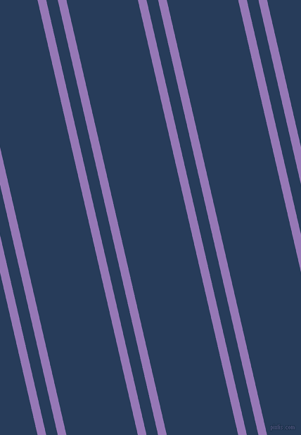 103 degree angles dual stripes line, 12 pixel line width, 16 and 99 pixels line spacing, Purple Mountain