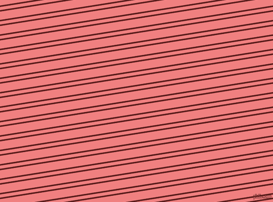 9 degree angle dual stripes line, 3 pixel line width, 6 and 16 pixel line spacing, Red Oxide and Light Coral dual two line striped seamless tileable