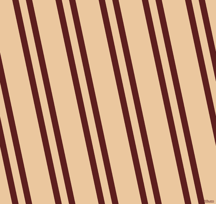 102 degree angle dual stripes lines, 21 pixel lines width, 24 and 77 pixel line spacing, Red Oxide and New Tan dual two line striped seamless tileable