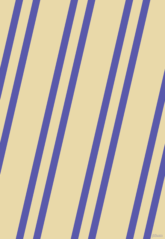 77 degree angle dual striped line, 24 pixel line width, 32 and 99 pixel line spacing, Rich Blue and Sidecar dual two line striped seamless tileable