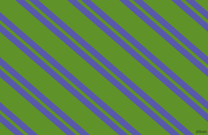 139 degree angle dual striped line, 20 pixel line width, 10 and 63 pixel line spacing, Rich Blue and Vida Loca dual two line striped seamless tileable