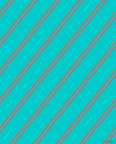 51 degree angle dual striped line, 4 pixel line width, 6 and 44 pixel line spacing, Roman and Robin