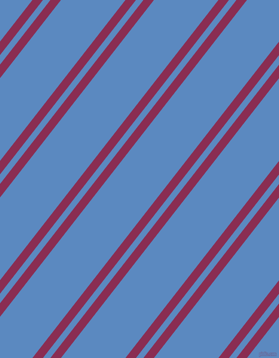 52 degree angle dual stripe line, 17 pixel line width, 12 and 104 pixel line spacing, Rose Bud Cherry and Danube dual two line striped seamless tileable