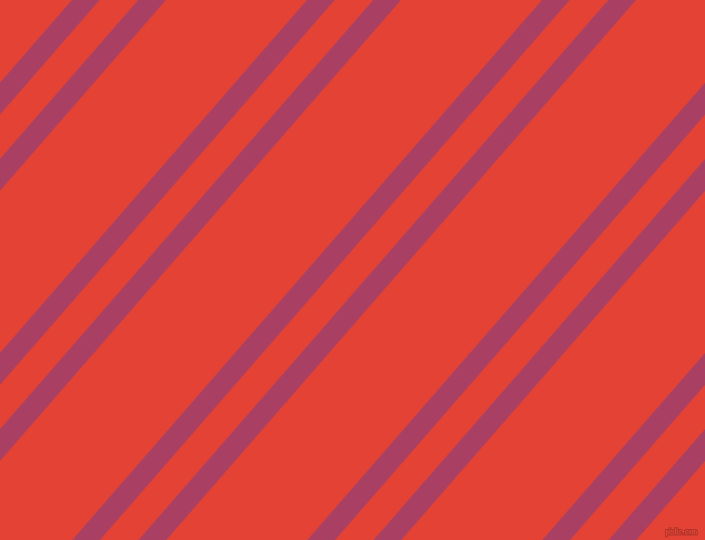 49 degree angle dual stripes lines, 23 pixel lines width, 32 and 117 pixel line spacing, Rouge and Cinnabar dual two line striped seamless tileable