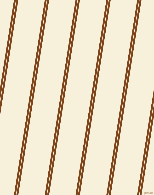 81 degree angle dual stripe lines, 8 pixel lines width, 2 and 109 pixel line spacing, Russet and Apricot White dual two line striped seamless tileable