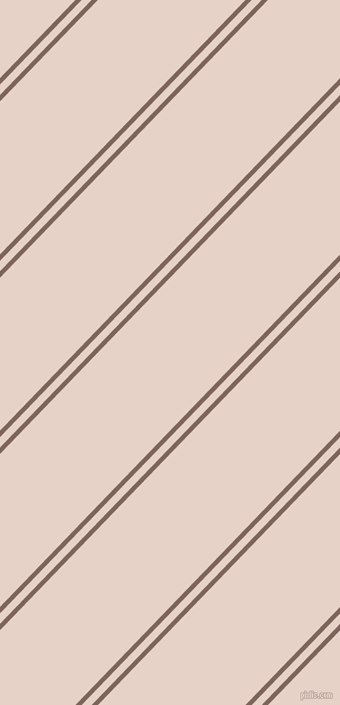 46 degree angles dual striped lines, 5 pixel lines width, 8 and 118 pixels line spacing, Russett and Bizarre dual two line striped seamless tileable