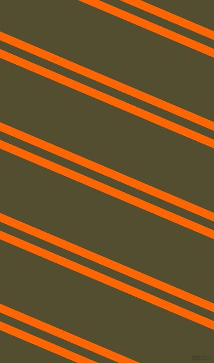 157 degree angle dual stripe line, 16 pixel line width, 16 and 117 pixel line spacing, Safety Orange and Thatch Green dual two line striped seamless tileable