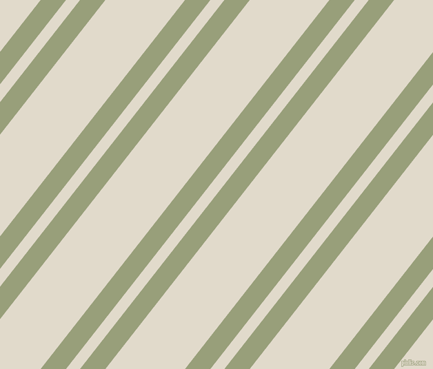 52 degree angles dual stripes line, 29 pixel line width, 16 and 91 pixels line spacing, Sage and Albescent White dual two line striped seamless tileable