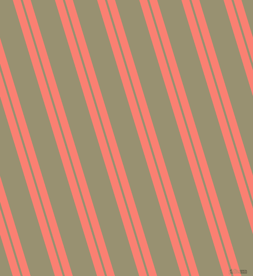 107 degree angles dual striped lines, 15 pixel lines width, 4 and 46 pixels line spacing, Salmon and Gurkha dual two line striped seamless tileable
